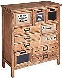 Better & Best 3121063 Cómoda con cajones, irregular, en madera natural de madera, madera natural