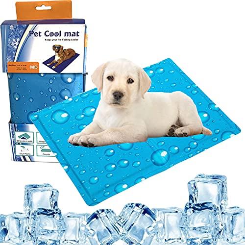 Alfombra Refrescante para Perro Gato 60x50cm, Auto Refrigerante No Tóxico Alfombra de Refrigeración Animales, Auto Enfriamiento Manta de Dormir Fresco Perros/Gatos, Ideal para Perros, Gatos en Verano