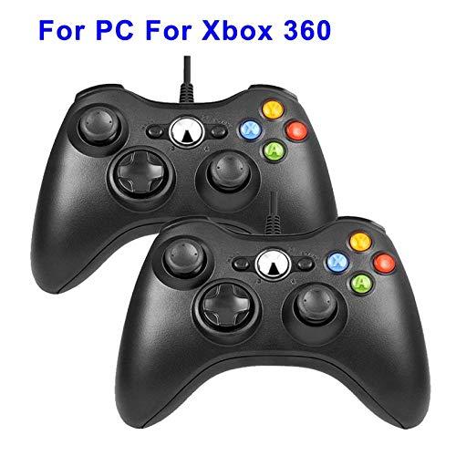 HDHL Mando Joystick de Juego de vibración con CableUSBparaControlador dePC con Windows2blackforxbox360