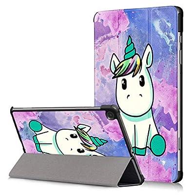 ZhuoFan Funda para Samsung Galaxy Tab S6 Lite 10.4 2020 Tablet Cárcasa Cuero PU Silicona Magnetica Función de Soporte y Auto-Desbloquear Protector para Samsung Tab S6 Lite 10.4 Pulgadas, Unicornio