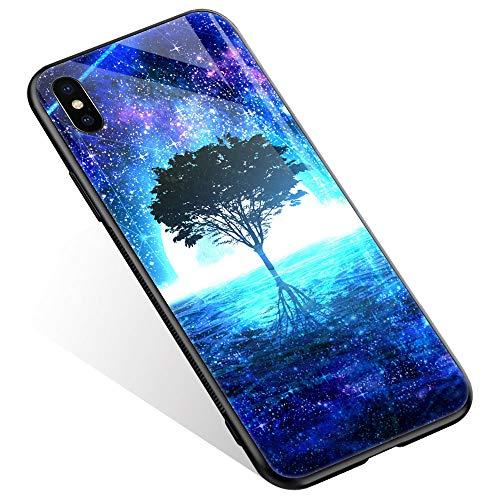 Juicy Case/Schutzhülle für LG G4, mit magnetischer Auto-Halterung, Klapp-Cover, magnetische Brieftasche, Smart View, unterstützt NFC, Freisprechfunktion, iPhone XR, Starlight Life Tree