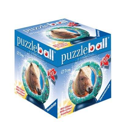 Ravensburger - 9729 - Chevaux Pailletés - Puzzle Ball - Enfant - 60 Pièces