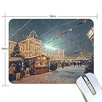 マウスパッド かわいい 北欧のクリスマス 小町の夜景 写真 高級 ノート パソコン マウス パッド 柔らかい ゲーミング よく 滑る 便利 静音 携帯 手首 楽