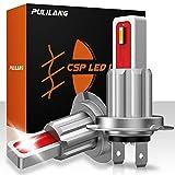 Pulilang Bombillas LED Antiniebla H7 CSP 6000K Xenón Blanco LED de Conducción Diurna Lámparas Antiniebla DRL Para Reemplazo Halógeno, 12-24V Sin Polaridad 40W 5000LM, 2 Lámparas