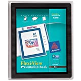 Avery Flexi-View Presentation Book, Clear Front Window for Title Page, 24 Non-Stick Pages, 1 Black Book (47690)
