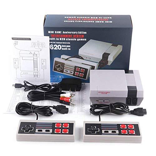Rann.Bao TV Spielekonsolen für Kinder Erwachsene, NES Mini-Spielekonsole Retro Spielekonsole Eingebaute 620 Klassische Videospiele Spielebox TV Output mit Zwei Joystick Controller