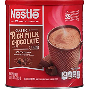 Nestle Hot Cocoa Mix Rich Milk Chocolate  39 Servings  27.7-Ounce Canisters  Pack of 3