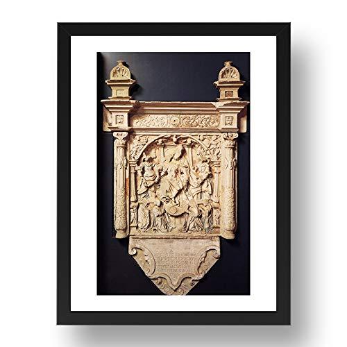 Period Prints Tricht Arnt van Ros Family Epitaph, Vintage-Kunst, A2, 61 x 43 cm, schwarzer Rahmen