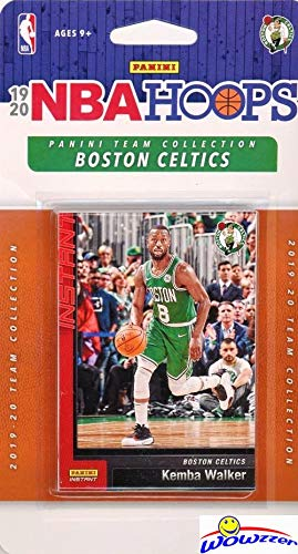 Boston Celtics 2019/20 Panini Hoops NBA Basketball EXCLUSIVE Factory Sealed Limited Edition 10 Card Factory Sealed Team Set with Jayson Tatum, Jaylen Brown, Gordon Hayward, Kemba Walker & More!WOWZZER