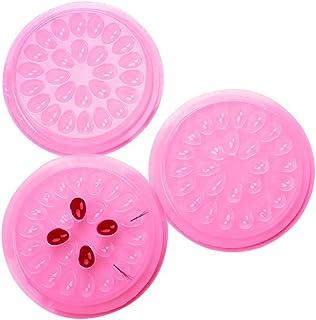 Libeauty Lash Glue Holder False Eyelashes Glue Holder for Eyelash Extensions Plastic Flower Shaped Glue Gasket Adhesive Pa...