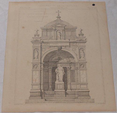 Edicola Nel Cimitero Monumentale Di Milano Cav. Carlo Maciachini Arch. 1878.