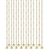 GuoWei-Cortinas de Cuentas Vidrio Cristalino Decoración Tablero Biombo para Dormitorio Cuarto de Baño Interior Champán Cuerdas Moderno (Tamaño : 25 Strings-LxW-1.76mx0.9m)