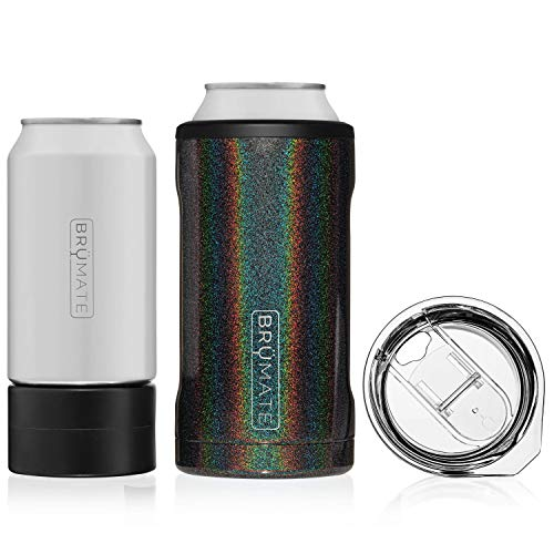 BrüMate HOPSULATOR TRíO 3-in-1 Stainless Steel Insulated Can Cooler,...