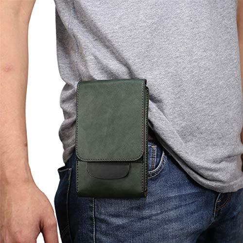 Bolso de Cintura Hombre para Celular, Riñonera para Teléfono Celular Hombre, Pequeño Hombre Bolsas de Telefono con Tarjetero Riñonera Funda Móvil con Clip Cinturón Cartera Bolsillo para Deportes Viaje
