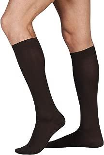 Juzo Cotton Support Knee Sock 15-20mmHg Closed Toe, II, Brown