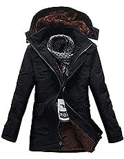YFFUSHI ダウンジャケット メンズ M-5XL 綿 全6色 厚手 柔らかい 着心地抜群 秋 冬 上品 裏起毛 大きいサイズ フード付き カジュアル ダウン 防寒防風 暖かい ファッション きれいめ