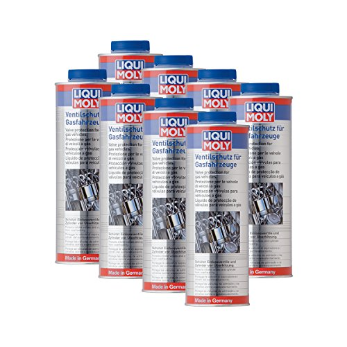 8x LIQUI MOLY 4012 Ventilschutz für Gasfahrzeuge Ventil-Schutz Additiv 1L