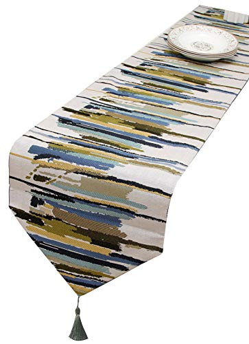 HoliSelear Multi-Size Colorful Stripe Table Runner Fall 13 x 108 Inch for Farmhouse Long Side Desk Tall Kitchen Tea/Coffee Table Dining Room Decoration Party Dresser