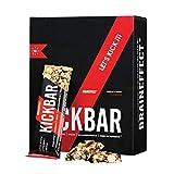 BRAINEFFECT Kickbar – Barritas energéticas con cafeína de nueces, arándanos, guaraná, B12 y B6 – Vegano – sustitución del café despertador, antifatiga, 12 x 35 g