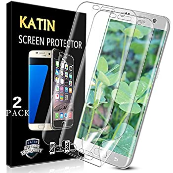 [2-Pack] KATIN For Samsung Galaxy S7 Edge Screen Protector 3D TPU Full Max Coverage Case Friendly Easy to Install No-Bubble