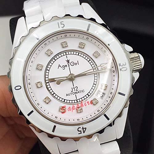 GFDSA Automatische horloges Luxe merk Automatisch mechanisch herenhorloge Saffier Keramiek Zilver Wit Zwart Keramiek Bezel Diamonds Sport 38mm