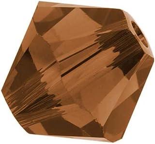 50pcs Authentic 6mm Swarovski Crystals 5328 Xillion Bicone Crystal Beads for Jewelry Craft Making (Smoked Topaz) SWA-b651
