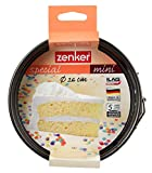 Zenker Molde Desmontable Special Mini, Acero con Revestimiento Antiadherente Teflon, Ø 16x4,5 cm