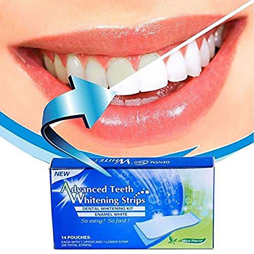 Tiras Blanqueadoras Dientes Lovely Smile Bright White Strips Blanqueador Dental Elimina Manchas Dentales Reduce Sensibilidad Dental Sabor Menta