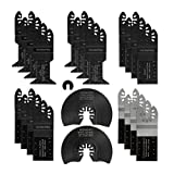 WORKPRO 22-Piece Metal/Wood Oscillating Saw Blades Kit, Multitool Quick Release Saw Blades Fit Porter Cable Black & Decker Rockwell Ridgid Ryobi Milwaukee DeWalt Chicago Craftsman