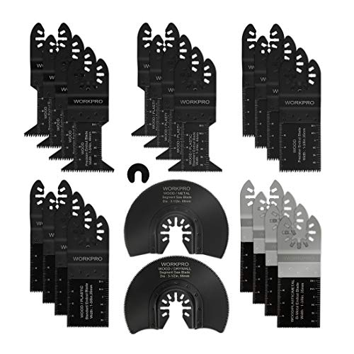 Discover Bargain WORKPRO 22-Piece Metal/Wood Oscillating Saw Blades Kit, Multitool Quick Release Saw...
