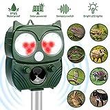 Repellente per animali,Repellente Ultrasuoni Energia Solare Impermeabile a Fequenza Regolabile per Allontanare uccello, Gatti e Altri per Fattoria, Giardino, Prato