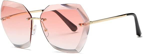 AEVOGUE Sunglasses For Women Oversized Rimless Diamond Cutting Lens Sun Glasses AE0534