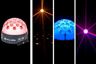 American Dj Supply Jelly Dome Led Powered Translucent Half Domemulti  Color Changing Effect Light