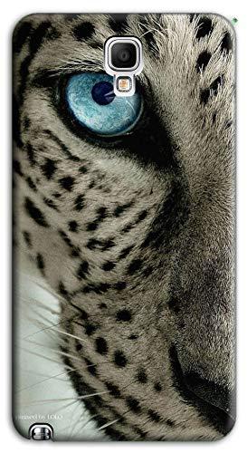 Mixroom - Cover Custodia Case in TPU Silicone Morbida per Samsung Galaxy Note 3 III Neo N7505 M731 Ghepardo Occhio Azzurro