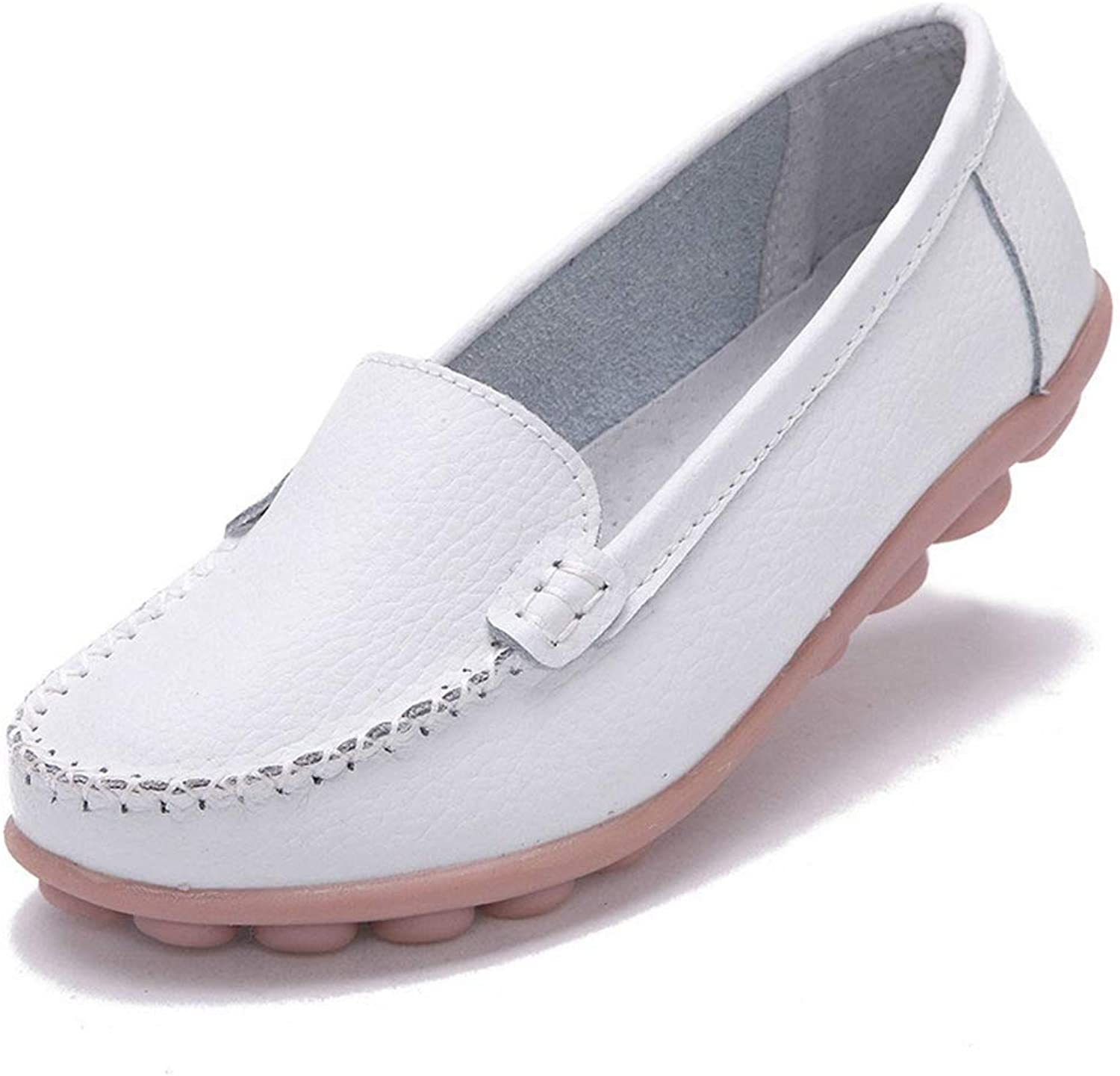 T-JULY Woman Leather Women shoes Flats colors Footwear Loafers Slip On Women's Flat shoes Moccasins Plus Size