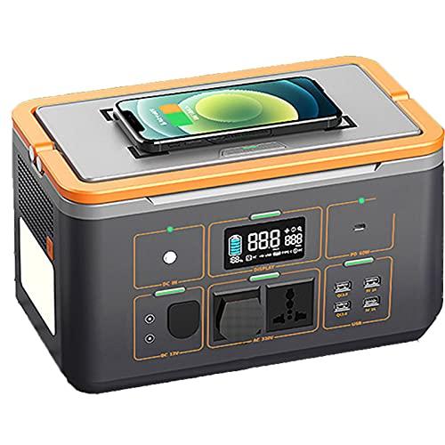 Grupo electrogeno Generador Portátil, Baterías De Litio Móvil Solares, Adecuadas para Viajes De Camping,(Color:500W)