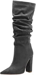 Melady Women Fashion Mid Boots Block High Heels