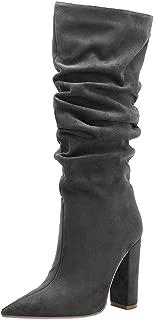 Zanpa Women Fashion Mid Boots Block High Heels