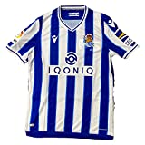 Macron Real Sociedad Primera Equipación Authentic 2020-2021, Camiseta, Royal-White, Talla M