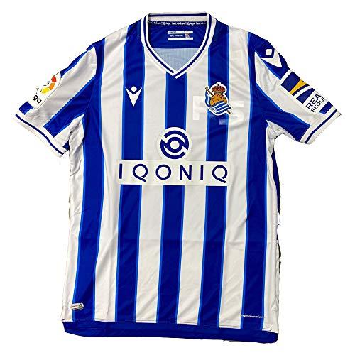 Macron Real Sociedad Primera Equipación Authentic 2020-2021, Camiseta, Royal-White, Talla S