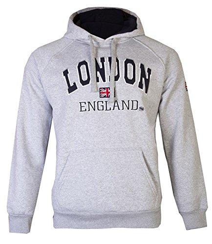 Sudaderas con capucha de Londres, unisex, diseño de la bandera británica Gris gris Medium