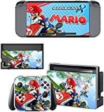 Game Decals Stickers Full Set Faceplate Skin for Nintendo Switch Console & Joy-con Controller & Dock Protection Kit by cocailony