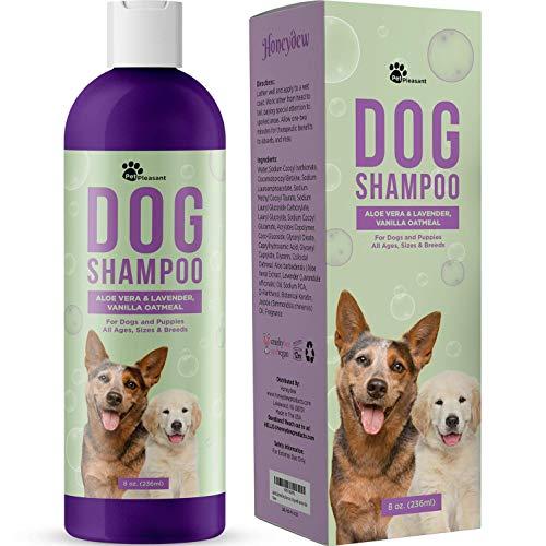 Vanilla Oatmeal Dog Shampoo with Aloe Vera - Colloidal Oatmeal Shampoo...