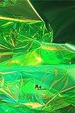 Meterware als Dekostoff- Dünne Magische Farbe Grün Tpu