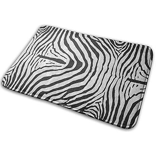 Joe-shop Zebra-Wolldecke-zeitgenössische Gedächtnis-Schaum-Bad-Matten rutschfestes weiches saugfähiges Bad 40 * 60CM