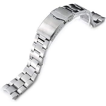 MiLTAT 20mm Watch Band for Seiko Alpinist SARB017 SBDC091 SBDC087, Super-O Screw-Link