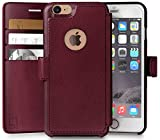 LUPA iPhone 6, 6s Wallet Case, Durable and Slim, Lightweight with Classic Design & Ultra-Strong Magnetic Closure, Faux Leather, Burgundy, Apple 6/6s (4.7 in)