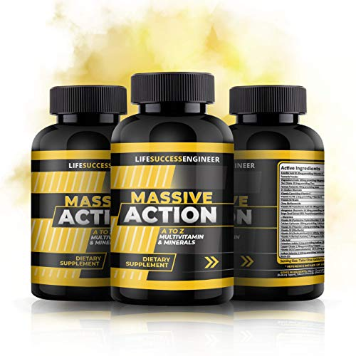 Multivitamins & Minerals Tablets | Premium A - Z Multivitamins & Minerals Massive Action Formula | Daily Men & Womens Supplements | UK Made | 2 Months Supply | Life Success Engineer