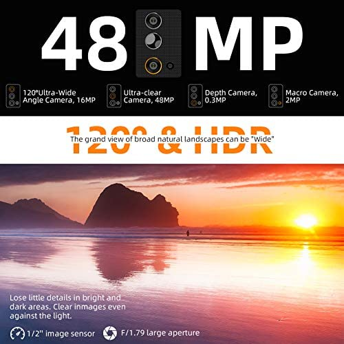 """Rugged Unlocked Phone, Blackview BV9900E Smartphone, 6GB+128GB ROM Helio P90, Android 10 Unlocked Smartphone, 48MP+16MP+ HDR Cricket Phone, Wireless Charging 5.84"""" FHD+ 4G GSM Gaming Cellphones WeeklyReviewer"""
