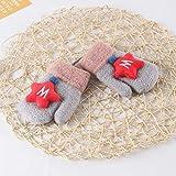 MMGCHandschuhe Stars Handschuhe Plus Velvet Lanyard Kinderhandschuhe 1-4 Jahre Kinder Warme Handschuhe